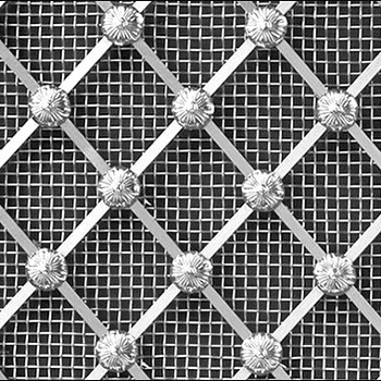 Stainless Steel Regency Diamond Grille 25mm All Floral
