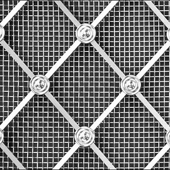 Stainless Steel Regency Diamond Grille 41mm All Plain