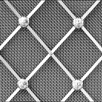 Stainless steel regency diamond grille 41mm alt floral