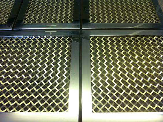 Brass Wire Grille : Framed decorative mesh