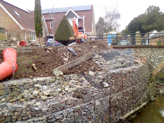 gabion wall in construction image