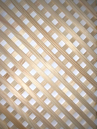Pine wooden decortaive grille