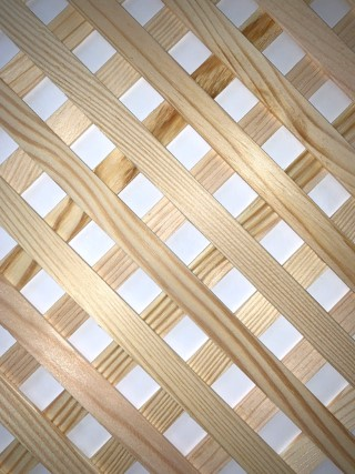 Pine wooden radiator grille