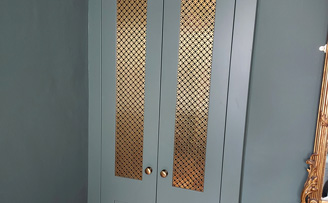 Fancy Ring Brass Cupboard and Door inserts